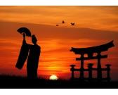 Geisha pri západe slnka