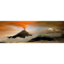Vulkán - PANORAMATICKÉ PUZZLE