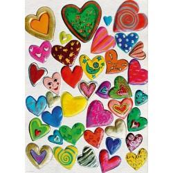 Srdcová koláž