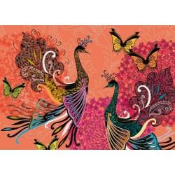 Páv a motýľ