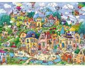 Šťastné mesto - TRIANGULAR PUZZLE