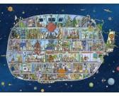 Vesmírna loď - TRIANGULAR PUZZLE