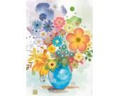 Modrá váza