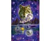 Vlci pri svitu mesiace