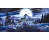 Vlci v noci - PANORAMATICKÉ PUZZLE