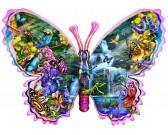 Motýľ - vodopád - KONTURA PUZZLE