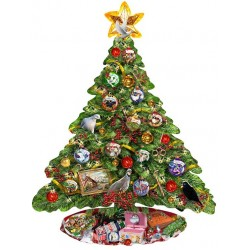 Vianočný stromček - KONTURA PUZZLE