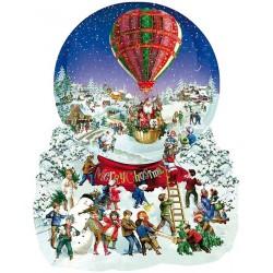 Vianočný balón - KONTURA PUZZLE