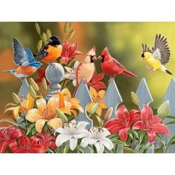 Vtáčiky na plote - XXL PUZZLE