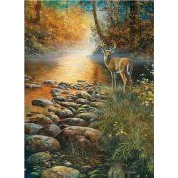 Jeleň pri potoku