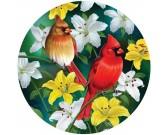 Červené vtáčiky - OKRÚHLE PUZZLE