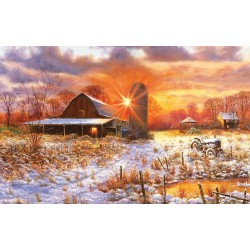 Zasnežená farma