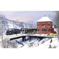 Železničná stanica v zime