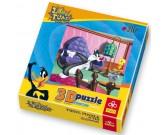Looney Tunes - v izbe - PUZZLE s 3D efektom