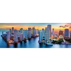 Miami v noci -PANORAMATICKÉ PUZZLE