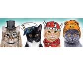 Štyri mačky - PANORAMATICKÉ PUZZLE
